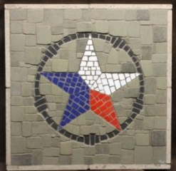 RWB Texas Star mosaic