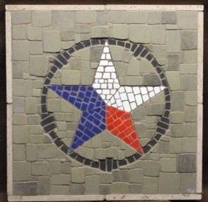 RWB Texas Star mosaic