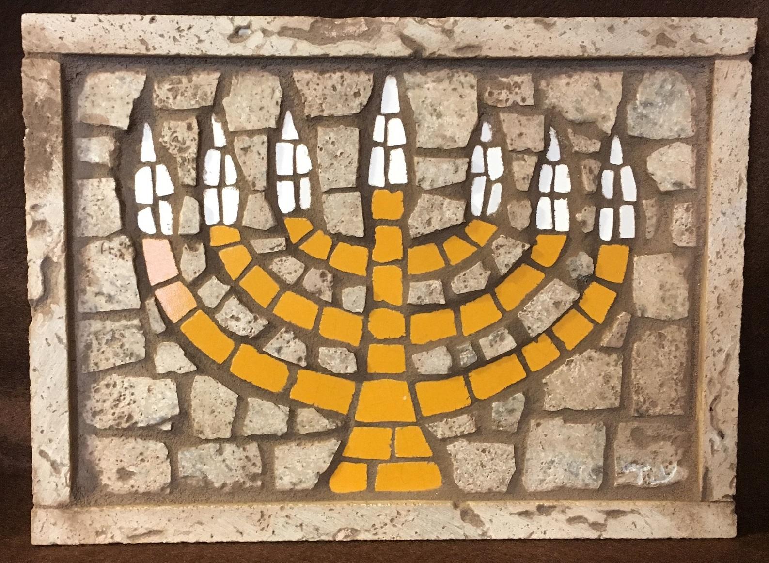 Golden Menorah Mosaic