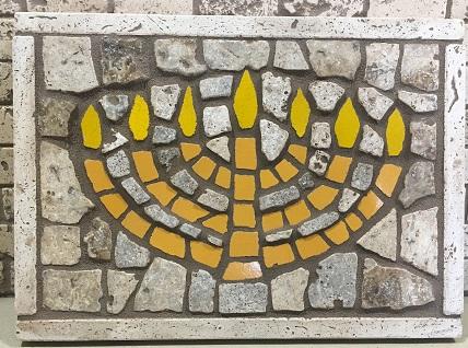 Menorah mosaic.
