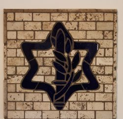 Blue IDF Star Mosaic